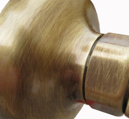 rubinetto a muro rustico in ottone spazzolato per acqua calda e fredda, cod. 03RMRCF, dettaglio