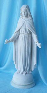 statua della Madonna delle rose altezza 44 cm in marmoresina, cod. 25MDR40MR