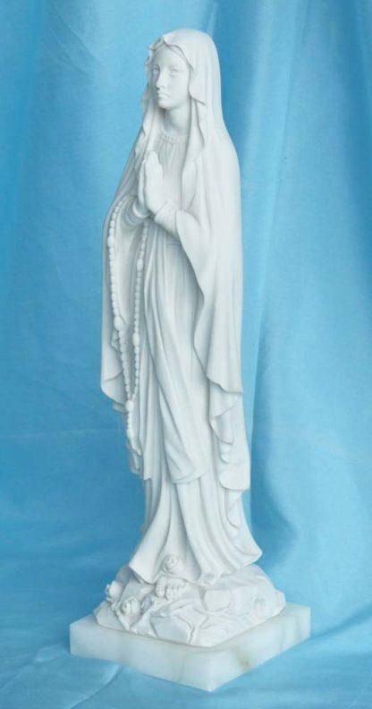 Madonna di Lourdes altezza 27 cm in marmoresina, cod. 25MLO25MR