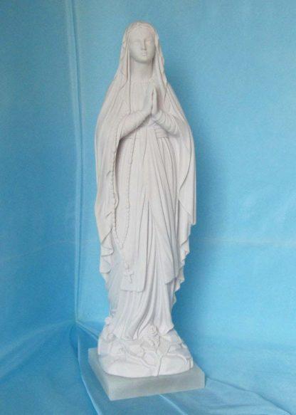 Madonna di Lourdes altezza 40 cm in marmoresina, cod. 25MLO40MR