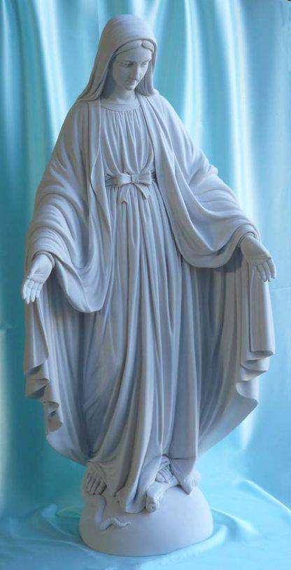 statua della Madonna Immacolata in marmoresina, altezza 100 cm, cod. 25MIM100MR