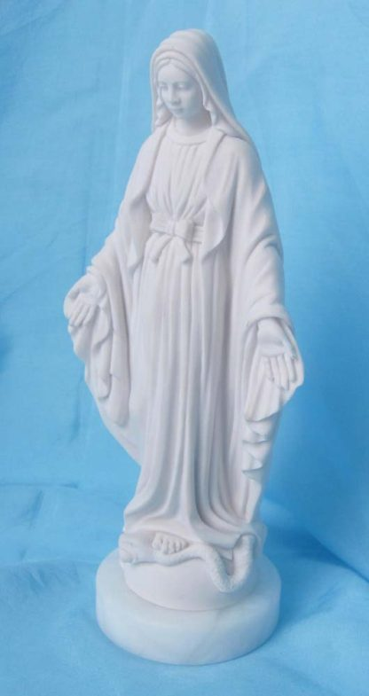 statua della Madonna Immacolata in marmoresina, altezza 18 cm, cod. 25MIM18MR