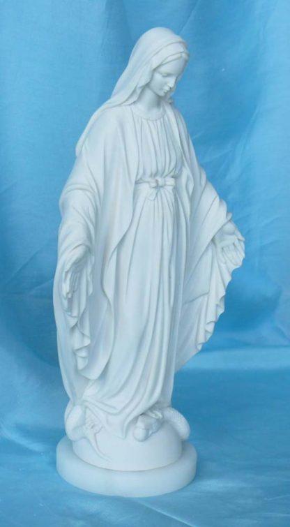 statua della Madonna Immacolata in marmoresina, altezza 24 cm, cod. 25MIM25MR