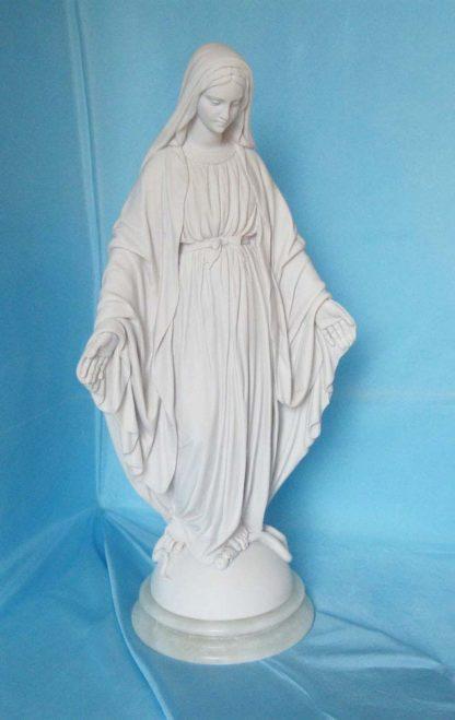 statua della Madonna Immacolata in marmoresina, altezza 43 cm, cod. 25MIM40MR