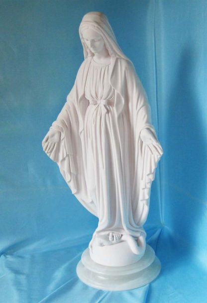 statua della Madonna Immacolata in marmoresina, altezza 51 cm, cod. 25MIM50MR