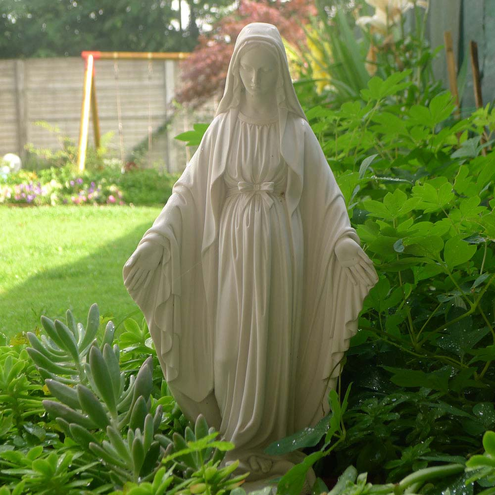 Madonna immacolata altezza da 18 a 100 cm in marmoresina for Articoli da giardino milano