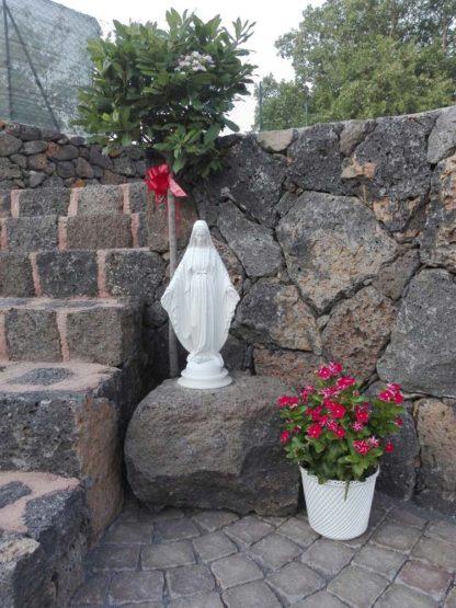 statua della Madonna Immacolata in marmoresina, altezza 51 cm, cod. 25MIM50MR, località: Maletto (Catania)