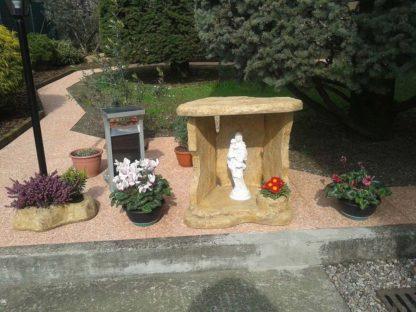 nicchia a scaglie per Madonna con Bambino, località: Castiglione Olona (Varese)