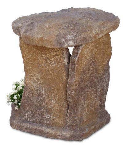 nicchia a scaglie per Madonna, in finta roccia alleggerita, col. old stone, cod. 14NSCOS