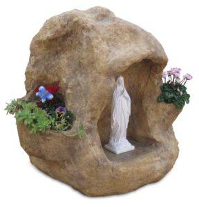 grotta per Madonna con fontana e vasi col. old stone, cod. 14NFOS