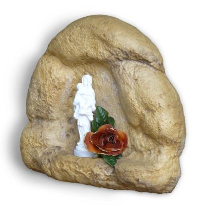 nicchia a muro per Madonna h18 col. old stone, cod. 14NM18OS
