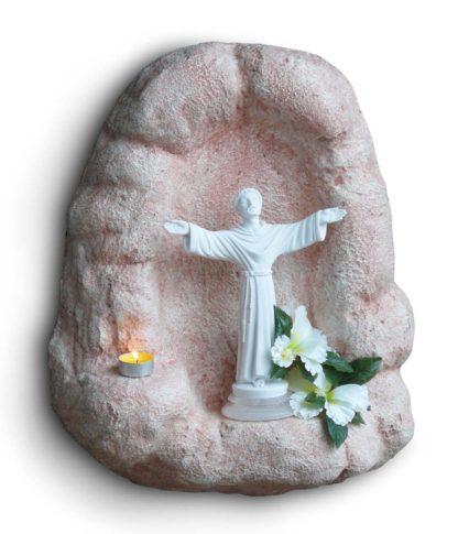 nicchia a muro per Madonna h25 col. rosa antico, cod. 14NM25RA