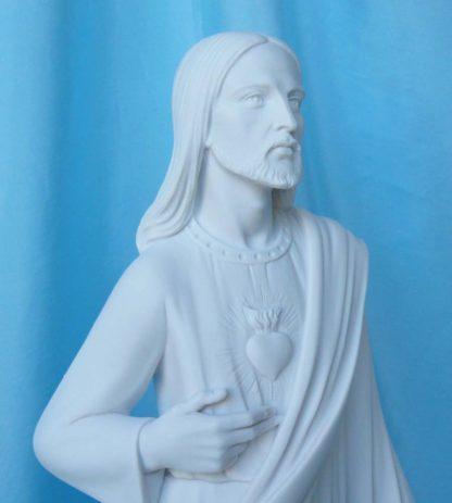 statua del Sacro Cuore di Gesù altezza 43 cm in marmoresina, cod. 25SCG40MR, dettaglio