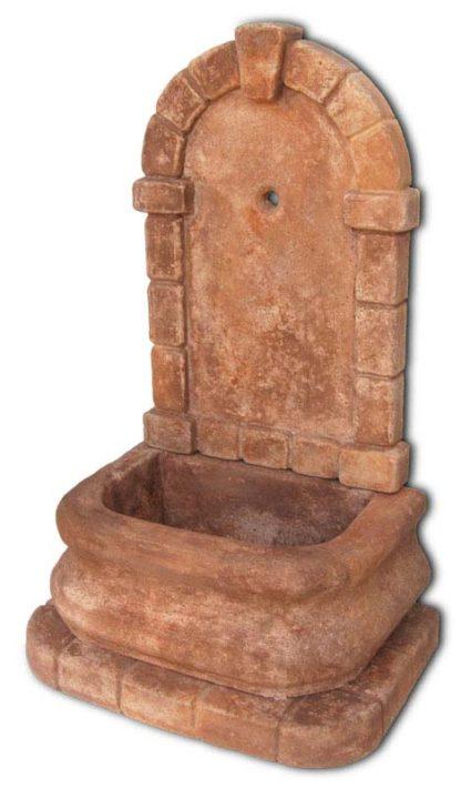 fontana a muro Aurelia col. mattone, cod. 03FAM