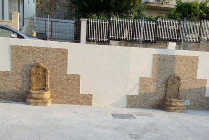 fontana a muro Aurelia col. old stone, cod. 03FAOS, località: Torretta (Palermo)