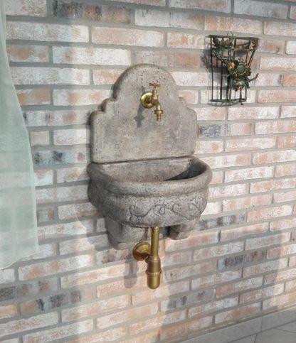 fontana a muro Giudecca con supporto col. antichizzato, cod. 03FMGAT, località: Caselle Torinese