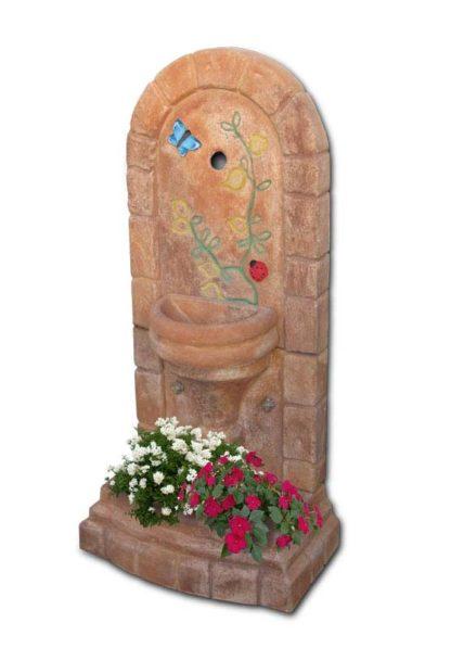 fontana a muro Roma col. mattone decor, cod. 03FMRMD