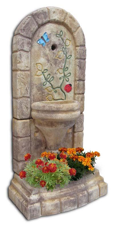 fontana a muro Roma col. old stone decor, cod. 03FMROSD
