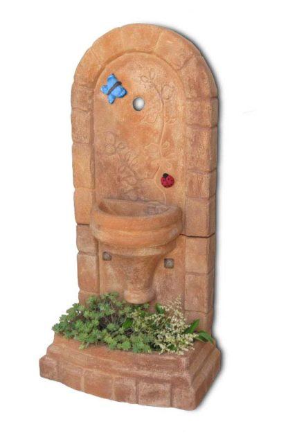 fontana a muro Roma col. mattone, cod. 03FMRM