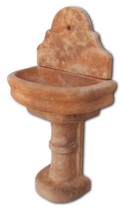 fontana a muro Venezia con supporto col. mattone, cod. 03FMVM