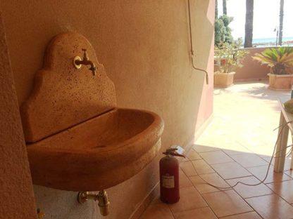 fontana a muro Venezia senza supporto col. mattone, cod. 03FMVMS, località: Buttigliera d'Asti