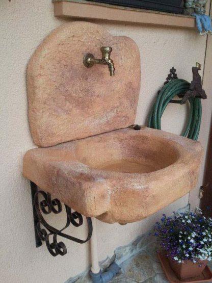 lavello da giardino Anterselva col. mattone, cod. 03LANM, Lussemburgo