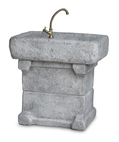 lavello Garda col. antichizzato, cod. 03LGAAT, vista retrolavello Garda col. antichizzato, cod. 03LGAAT, vista posteriore