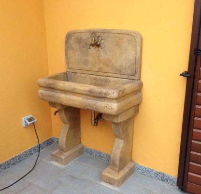 lavello per esterno col. old stone, cod. 03LEOS, località: Vigevano (Pavia)