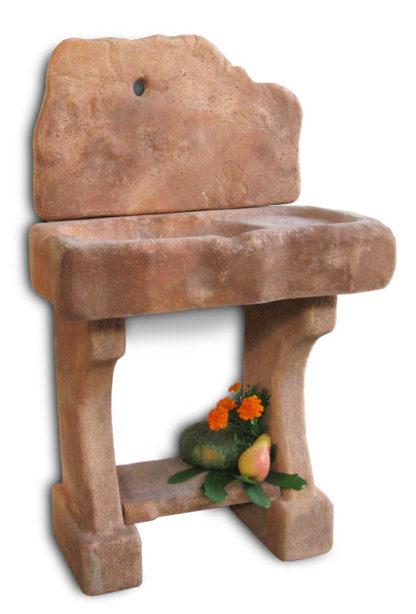 lavello da giardino rustico col. mattone, cod. 03LRM