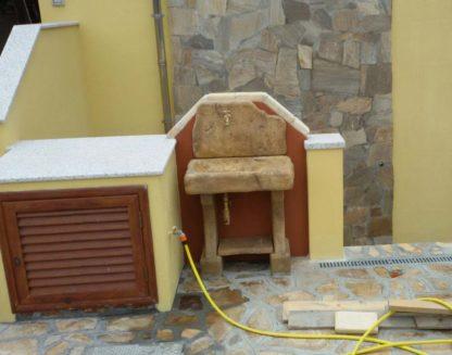 lavello da giardino rustico col. old stone, cod. 03LROS, località: Budoni (Olbia-Tempio)