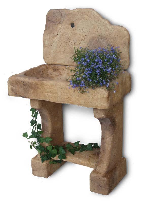 Lavello rustico fontane a muro e lavelli r c di - Lavelli in pietra da giardino ...