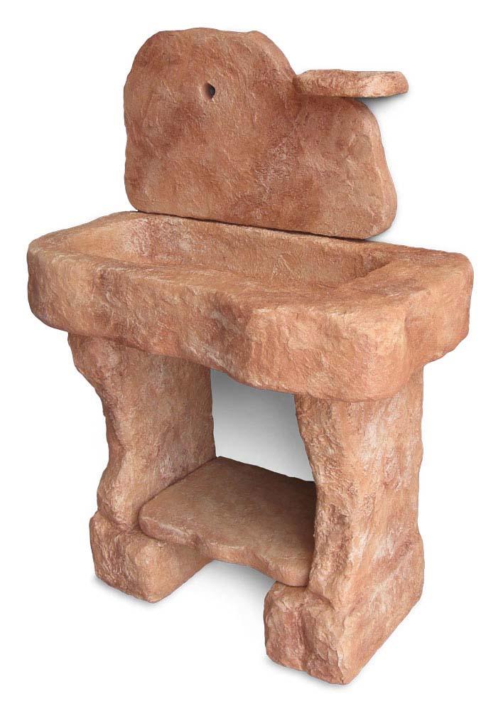 lavello giardino pietra : Lavello da giardino Tovel con supporti in finta pietra, mattone
