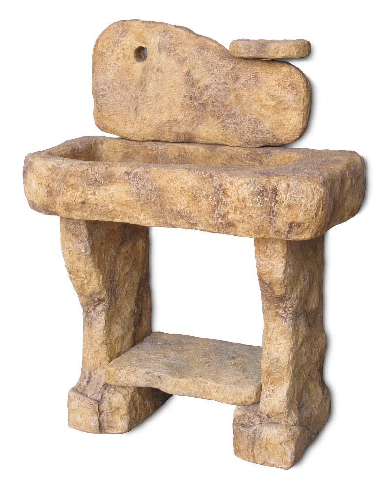 lavello pietra da giardino : Lavello da giardino Tovel con supporti Fontane a muro e lavelli R ...