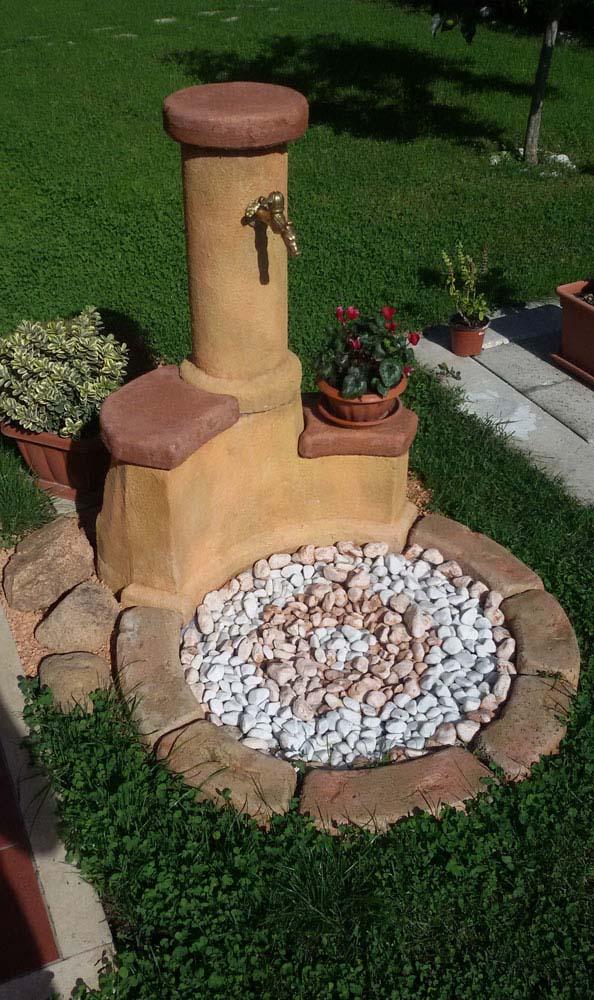 Fontana azalea easy fontane da giardino r c di for Come costruire una cabina di pietra