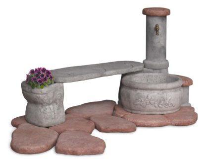 fontana azalea con panchina col. antichizzato, cod. 03FAZPAT