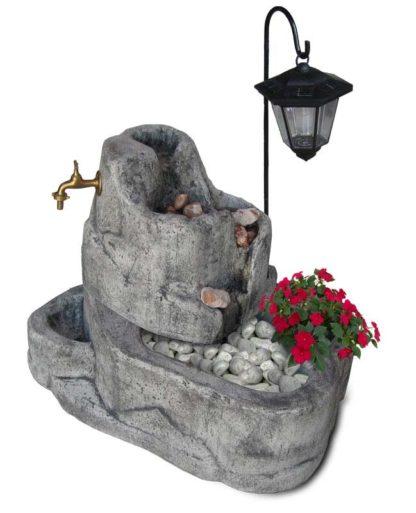 fontana Colorado con gioco d'acqua e lanterna col. antichizzato, cod. 13FCOLAT