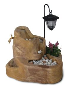 fontana Colorado con gioco d'acqua e lanterna col. old stone, cod. 13FCOLOS