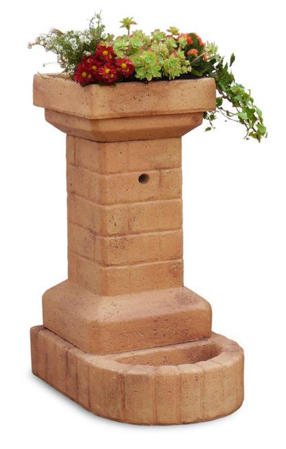 fontana fiorita col. mattone, cod. 03FFM