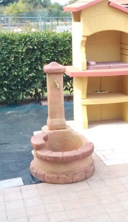 fontana Firenze col. pietre del borgo, modificata su richiesta, località: Chivasso (Torino)
