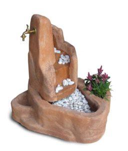 fontana Piave con gioco d'acqua col. mattone, cod. 13FPIM