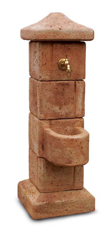 fontana pilastrello col. mattone, cod. 03FPM
