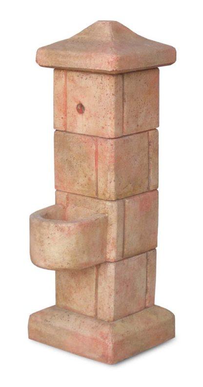 fontana da giardino pilastrello col. pietre del borgo, cod. 03FPP