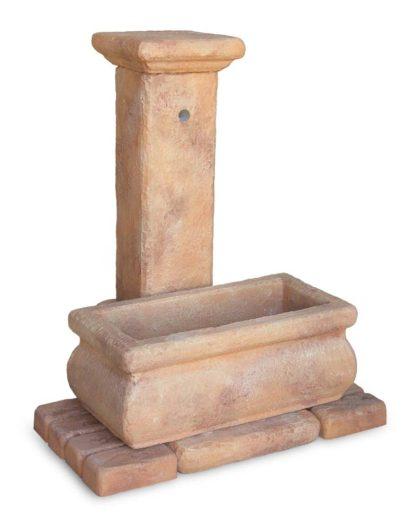 fontana Volterra rettangolare 80 col. mattone, cod. 03FVRE80M