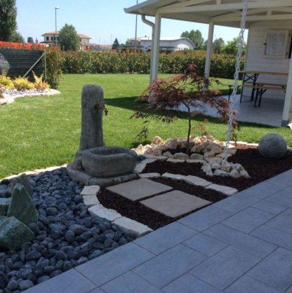fontana fonte alla roccia col. antichizzato, cod. 03FRAT, località: Lagosanto (Ferrara)