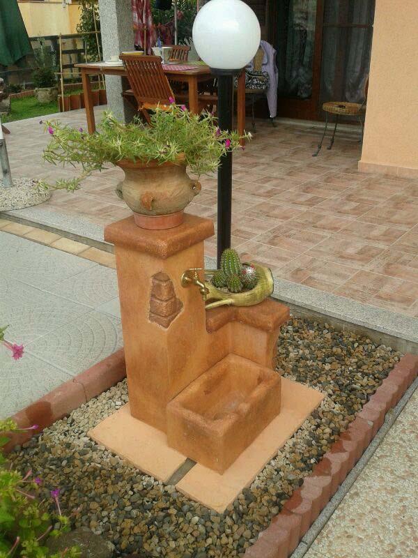 Fonte del casale easy fontane da giardino r c di for Fontane giardino ikea