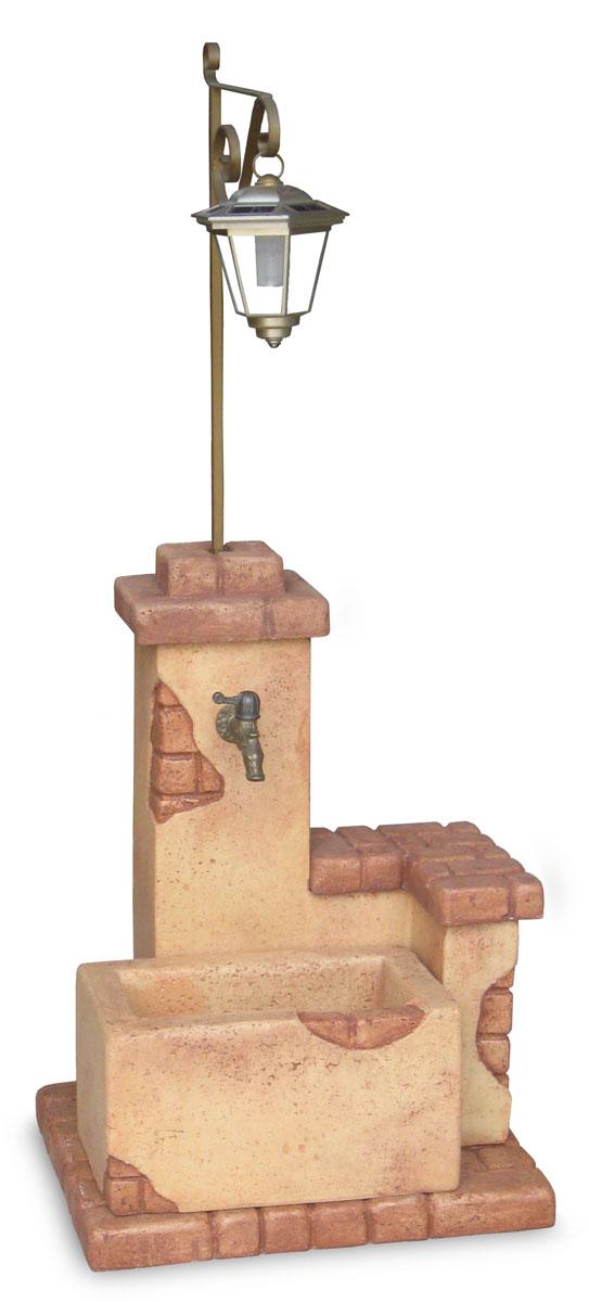 fontana fonte del casale con lanterna col. mattone, cod. 03FDCLM