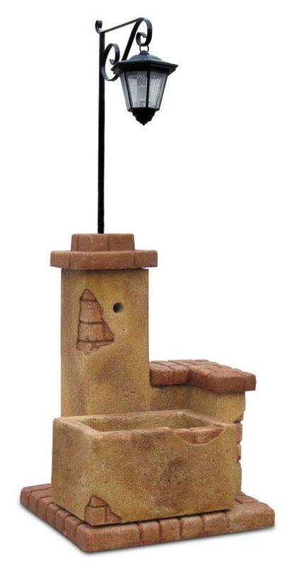 fontana fonte del casale con lanterna col. old stone, cod. 03FDCLOS