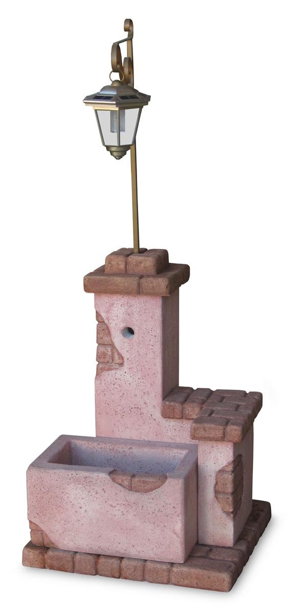 fontana fonte del casale con lanterna col. rosa antico, cod. 03FDCLRA