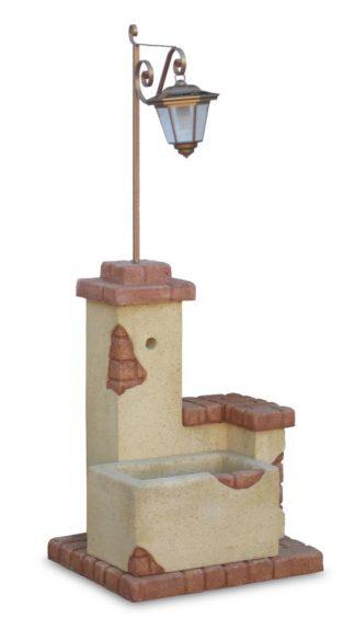 fontana fonte del casale con lanterna col. giallo, cod. 03FDCLGG