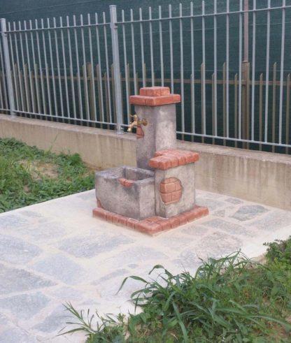fontana fonte del casale col. antichizzato, cod. 03FDCAT, località: Asti
